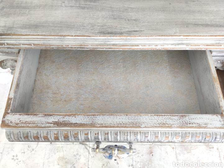 Antigüedades: Aparador Alain restaurado gris decapado - Foto 4 - 195059370
