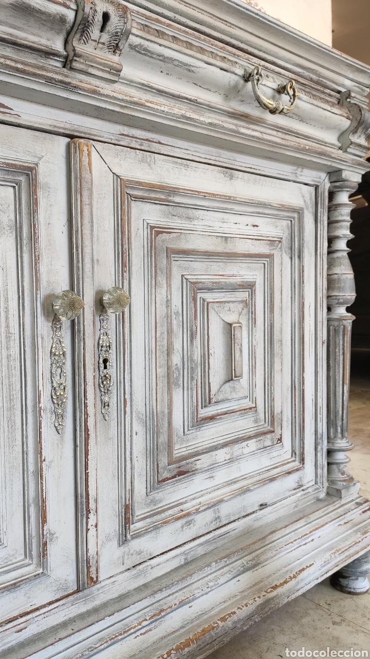 Antigüedades: Aparador Alain restaurado gris decapado - Foto 6 - 195059370