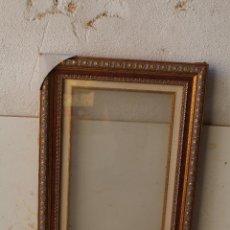 Antigüedades: MARCO DE MADERA CON CRISTAL. Lote 195061556