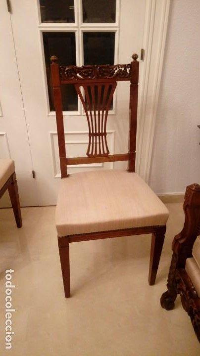 Antigüedades: 4 sillas - Foto 2 - 195062076