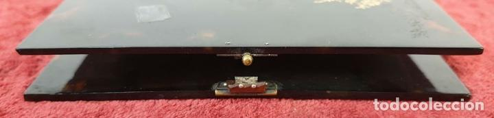 Antigüedades: CARNET DE BAILE. CUBIERTAS SIMIL CAREY. REMATES DE PLATA. SIGLO XIX-XX - Foto 2 - 195062912