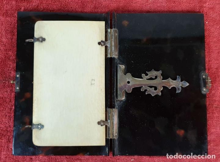 Antigüedades: CARNET DE BAILE. CUBIERTAS SIMIL CAREY. REMATES DE PLATA. SIGLO XIX-XX - Foto 4 - 195062912