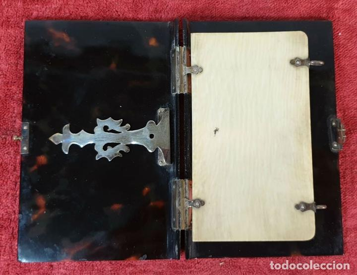Antigüedades: CARNET DE BAILE. CUBIERTAS SIMIL CAREY. REMATES DE PLATA. SIGLO XIX-XX - Foto 6 - 195062912
