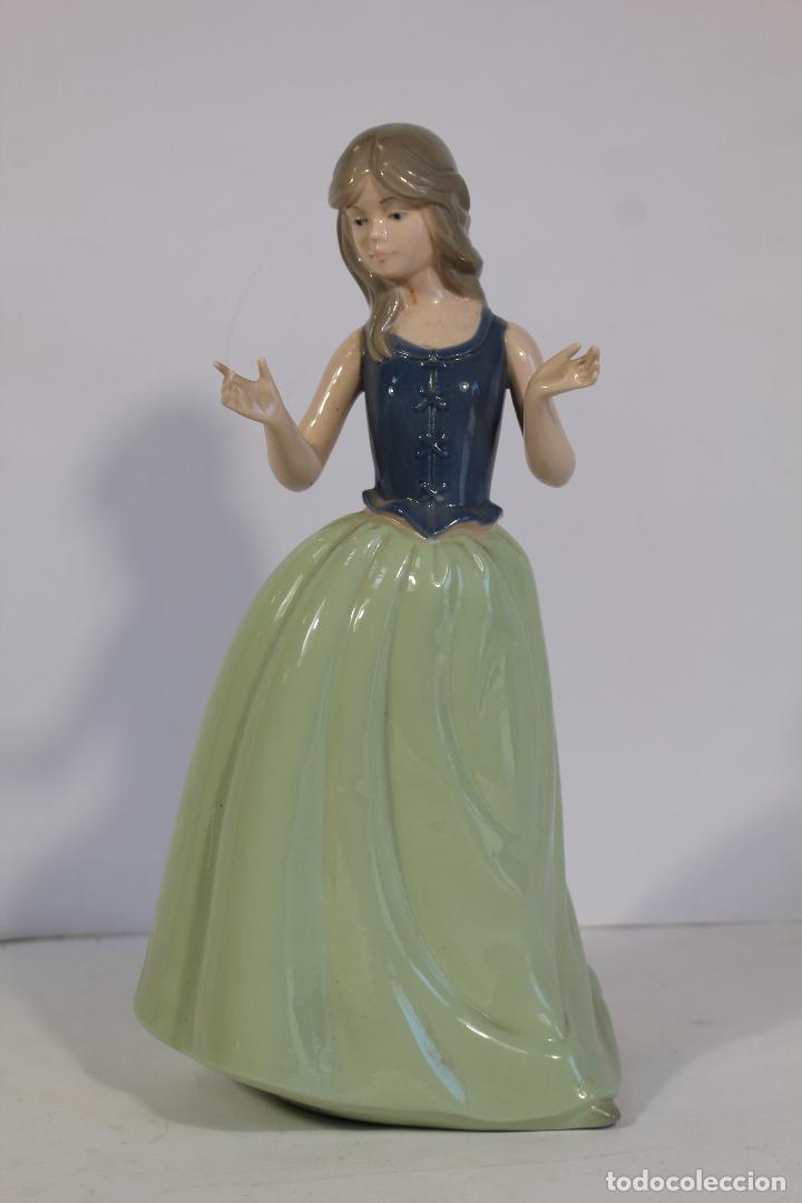 Antigüedades: figura de porcelana de nadal - dama - - Foto 3 - 195065456