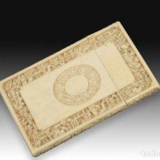 Antigüedades: TARJETERO ORIENTAL. MARFIL. SIGLO XIX. . Lote 195072231