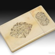 Antigüedades: TARJETERO ORIENTAL. MARFIL. SIGLO XIX. . Lote 195072840