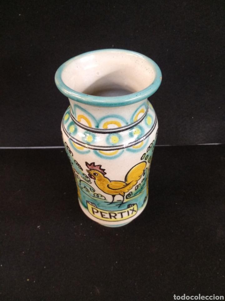 Antigüedades: Albarelo, tarro de farmacia La purísima el puente A.C.R. - Foto 2 - 195073542