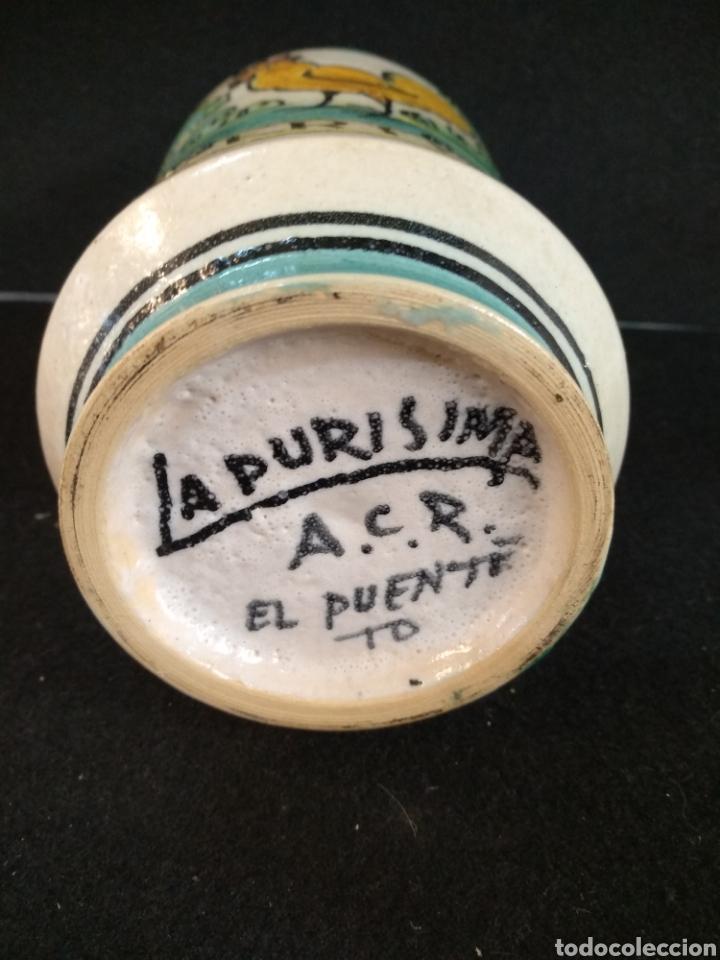 Antigüedades: Albarelo, tarro de farmacia La purísima el puente A.C.R. - Foto 3 - 195073542
