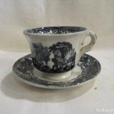 Oggetti Antichi: ANTIGUO TAZA Y PLATO DE CAFE - LA CARTUJA DE SEVILLA PICKMAN. Lote 195081271