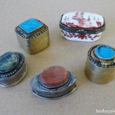 Antigüedades: CAJAS DE METAL AÑOS 70. Lote 195083286