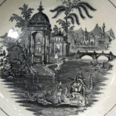 Antigüedades: ANTIGUO PLATO HONDO DE LA CARTUJA DE SEVILLA - PICKMAN - 23.5 CM. X 5.3 CM. . Lote 195083847
