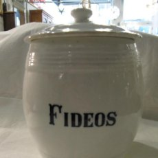 Antigüedades: ANTIGUO BOTE DE LOZA - FIDEOS . Lote 195085941