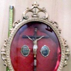 Antigüedades: RELICARIO, ORATORIO, HORNACINA ANTIGUA CON CRISTO MUY BONITA Y CONSERVADA 45 CM.. Lote 195087687