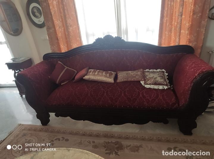 SOFÁ S.XIX CAOBA (Antigüedades - Muebles Antiguos - Sofás Antiguos)