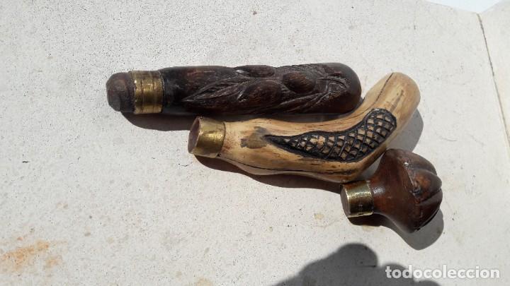 LOTE DE MANGOS PARA BASTONES (Antigüedades - Religiosas - Varios)