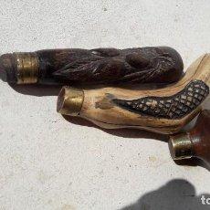 Antigüedades: LOTE DE MANGOS PARA BASTONES. Lote 195102323