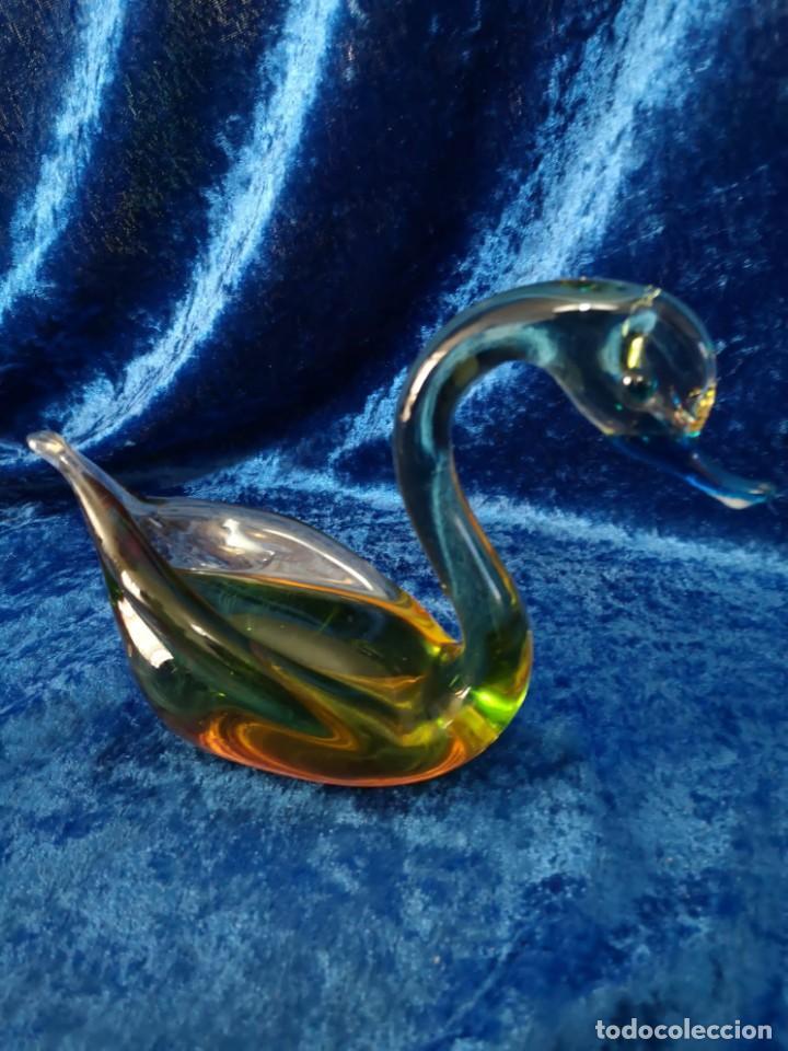 FIGURA MURANO CISNE (Antigüedades - Cristal y Vidrio - Murano)