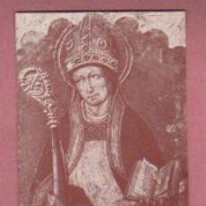 Antigüedades: ESPECIE DE ESTAMPA DE SANT AGUSTI - DE OLEO D GABRIEL GAUDIA 1501 MUSEU D LA SEU D MANRESA 1973. Lote 195109058