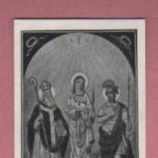 Antigüedades: ESTAMPA DE LOS SANTOS MAURICIO, FRUCTOSO E INÉS PATRONOS DE LA CIUDAD DE MANRESA. Lote 195110526