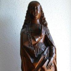 Antigüedades: TALLA DE MADERA DE VIRGEN DEL SIGLO XVII. Lote 195110547