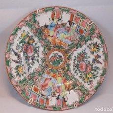 Antigüedades: PLATO DE PORCELANA. CANTÓN. CHINA. SIGLO XIX.. Lote 195116957