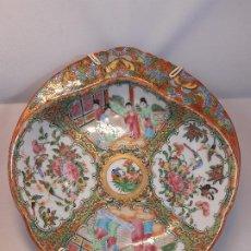Antigüedades: BANDEJA FUENTE. PORCELANA. CANTÓN. CHINA. SIGLO XIX.. Lote 195118168