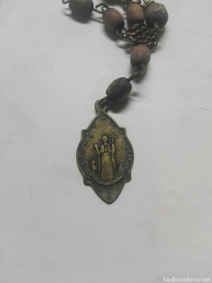 Antigüedades: MUY ANTIGUO ROSARIO DE NURIA Y SAN GIL ABAD - Foto 3 - 195120097