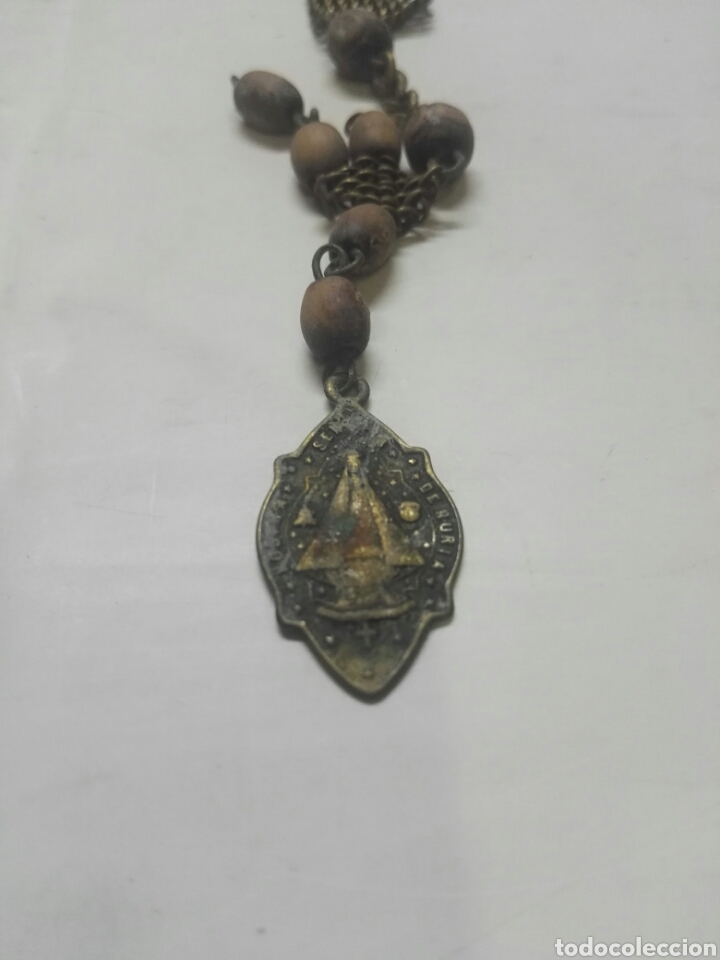 Antigüedades: MUY ANTIGUO ROSARIO DE NURIA Y SAN GIL ABAD - Foto 5 - 195120097