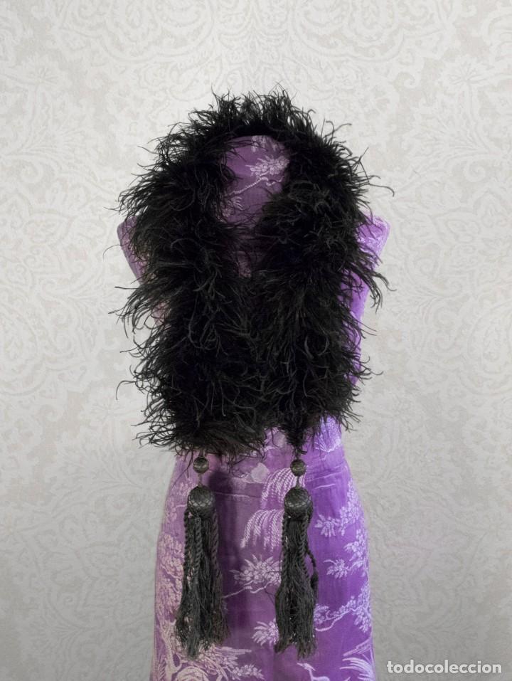 IMPECABLE BOA ANTIGUA DE PLUMAS DE MARABÚ. 1920S (Antigüedades - Moda y Complementos - Mujer)