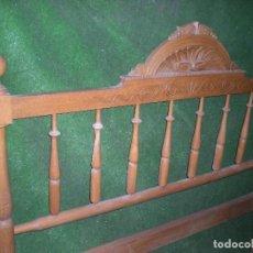 Antigüedades: CABECERO DE CAMA MADERA, ANCHO 130CM X 120CM ALTURA. Lote 195122443