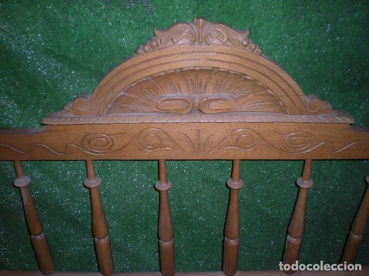 Antigüedades: CABECERO DE CAMA MADERA, ANCHO 130CM X 120CM ALTURA - Foto 4 - 195122443