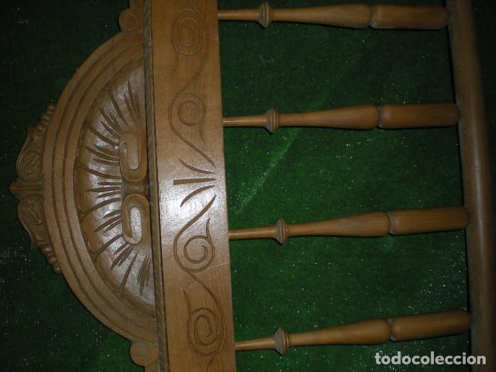 Antigüedades: CABECERO DE CAMA MADERA, ANCHO 130CM X 120CM ALTURA - Foto 5 - 195122443