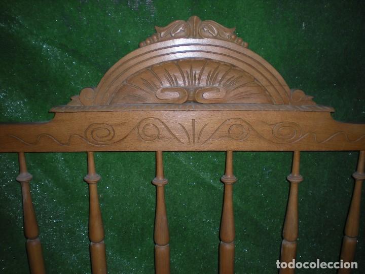 Antigüedades: CABECERO DE CAMA MADERA, ANCHO 130CM X 120CM ALTURA - Foto 6 - 195122443