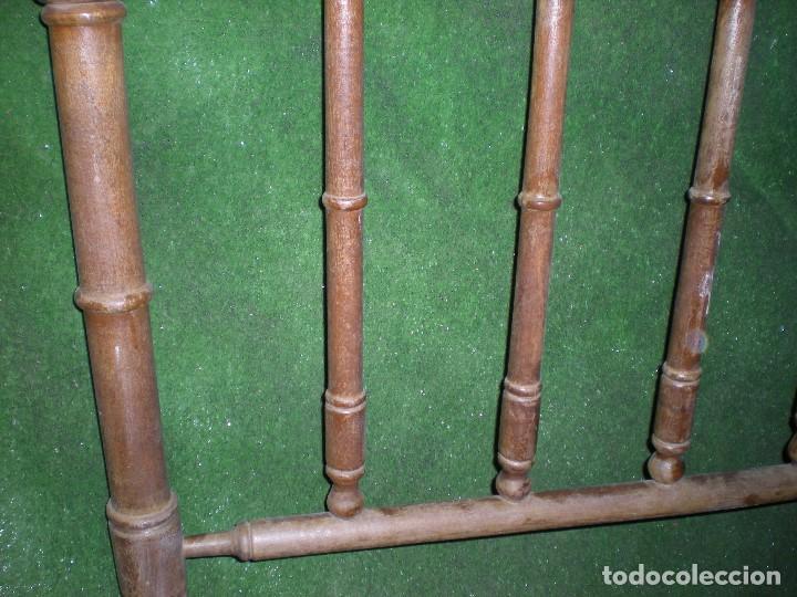 Antigüedades: CABECERO DE CAMA MADERA, ANCHO 100CM X 117CM ALTURA - Foto 4 - 195122851