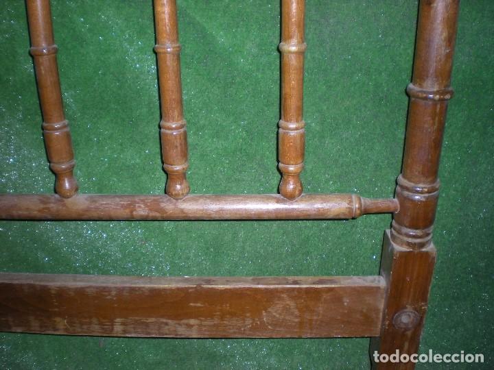 Antigüedades: CABECERO DE CAMA MADERA, ANCHO 100CM X 117CM ALTURA - Foto 8 - 195122851