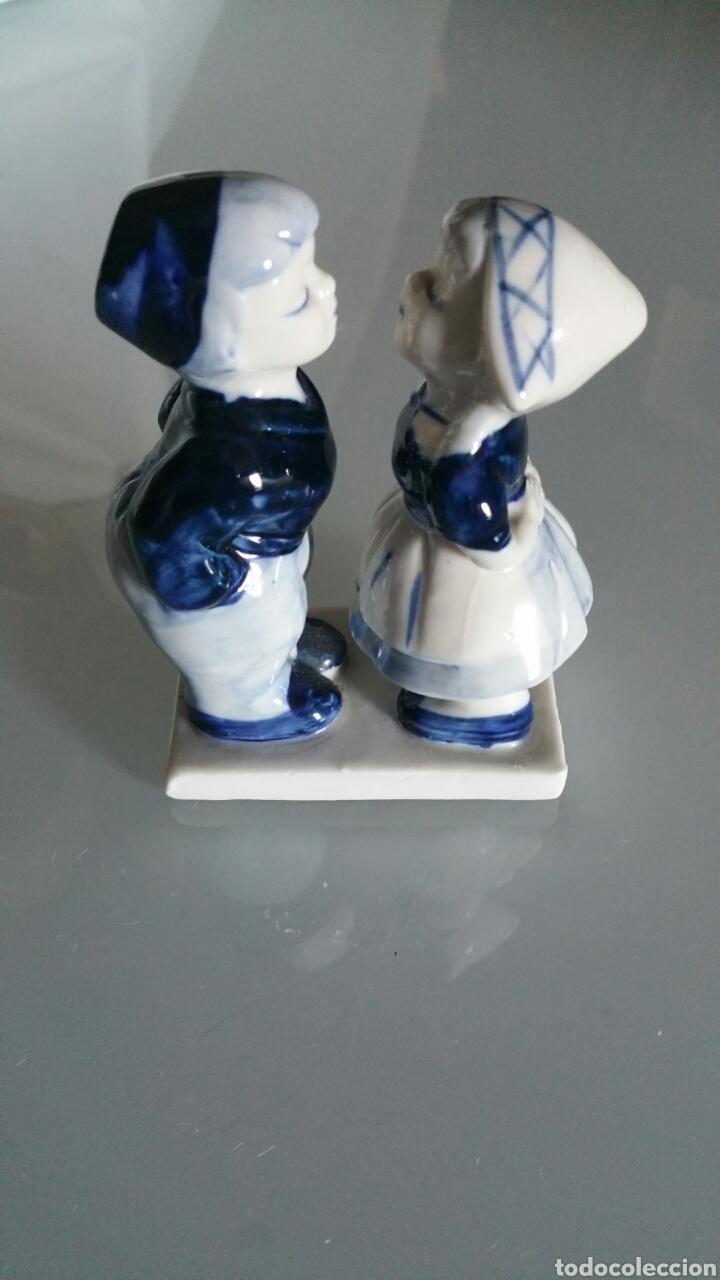 FIGURA DE PORCELANA , HOLANDA. (Antigüedades - Porcelana y Cerámica - Holandesa - Delft)
