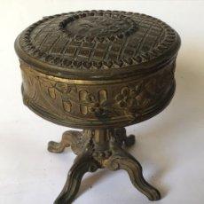 Antigüedades: ANTIGUO JOYERO MODERNISTA , ORIGINAL 1890 , MUY DECORADO EN FORMA DE TOCADOR . Lote 195131603