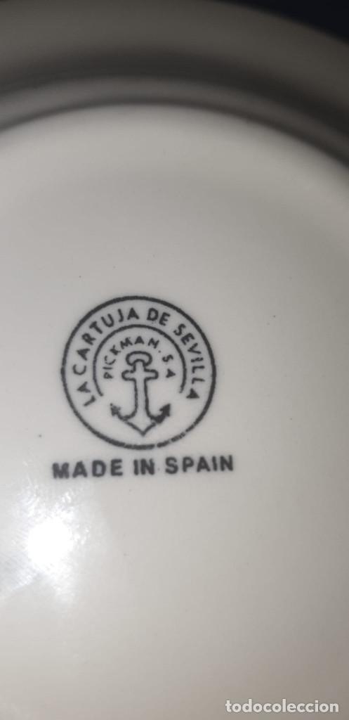 Antigüedades: Lote de tres ceniceros de cerámica sellada de cartuja pickman. - Foto 4 - 195132043