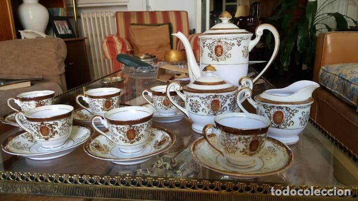 JUEGO DE CAFÉ + LLADRÓ + PLATITOS (Antigüedades - Porcelanas y Cerámicas - China)