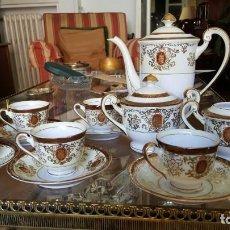 Antigüedades: JUEGO DE CAFÉ + LLADRÓ + PLATITOS. Lote 195143602