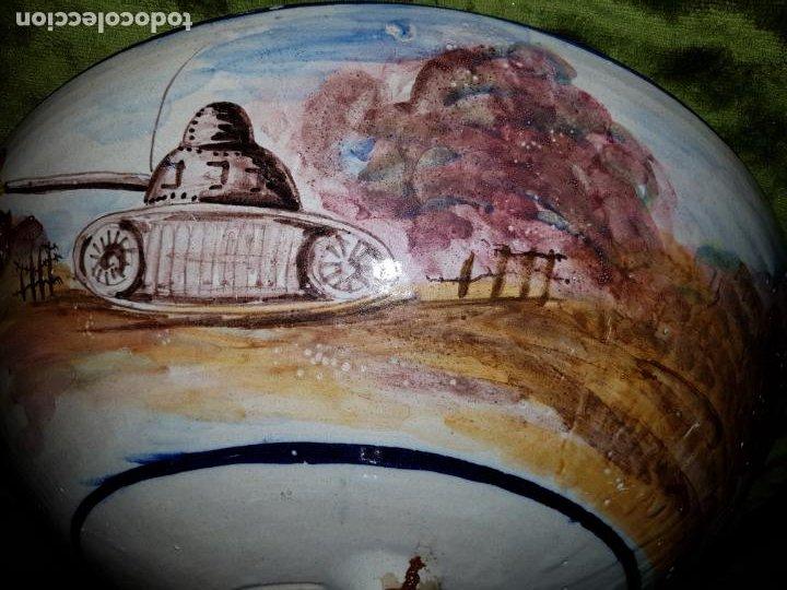 Antigüedades: LEBRILLO DE CERÁMICA DE TRIANA. CON EXTRAÑA DECORACION - Foto 5 - 195144683