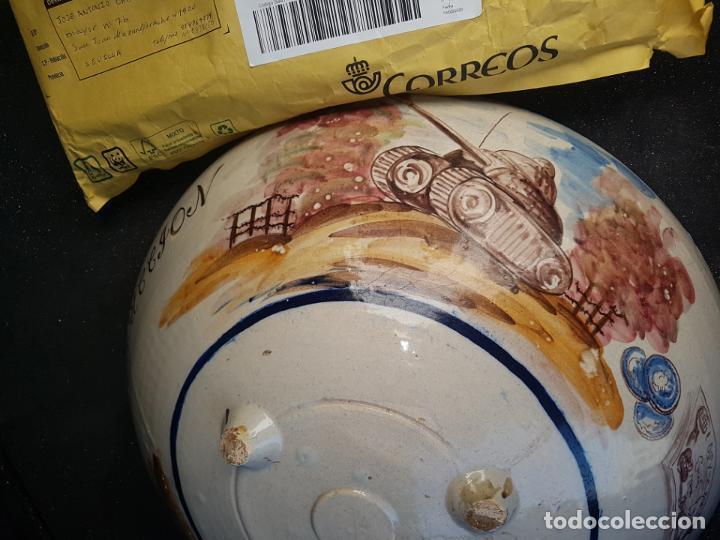 LEBRILLO DE CERÁMICA DE TRIANA. CON EXTRAÑA DECORACION (Antigüedades - Porcelanas y Cerámicas - Triana)
