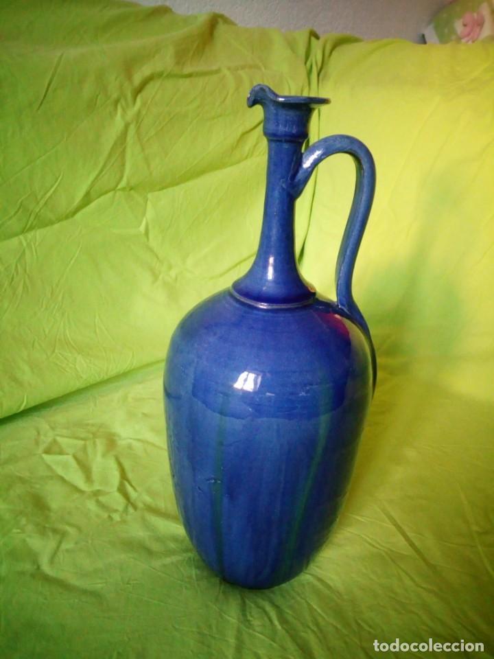 Antigüedades: jarron de alfar Gongora - Ubeda.ceramica esmaltada - Foto 2 - 195145317