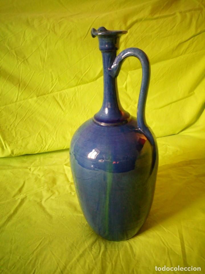 Antigüedades: jarron de alfar Gongora - Ubeda.ceramica esmaltada - Foto 3 - 195145317