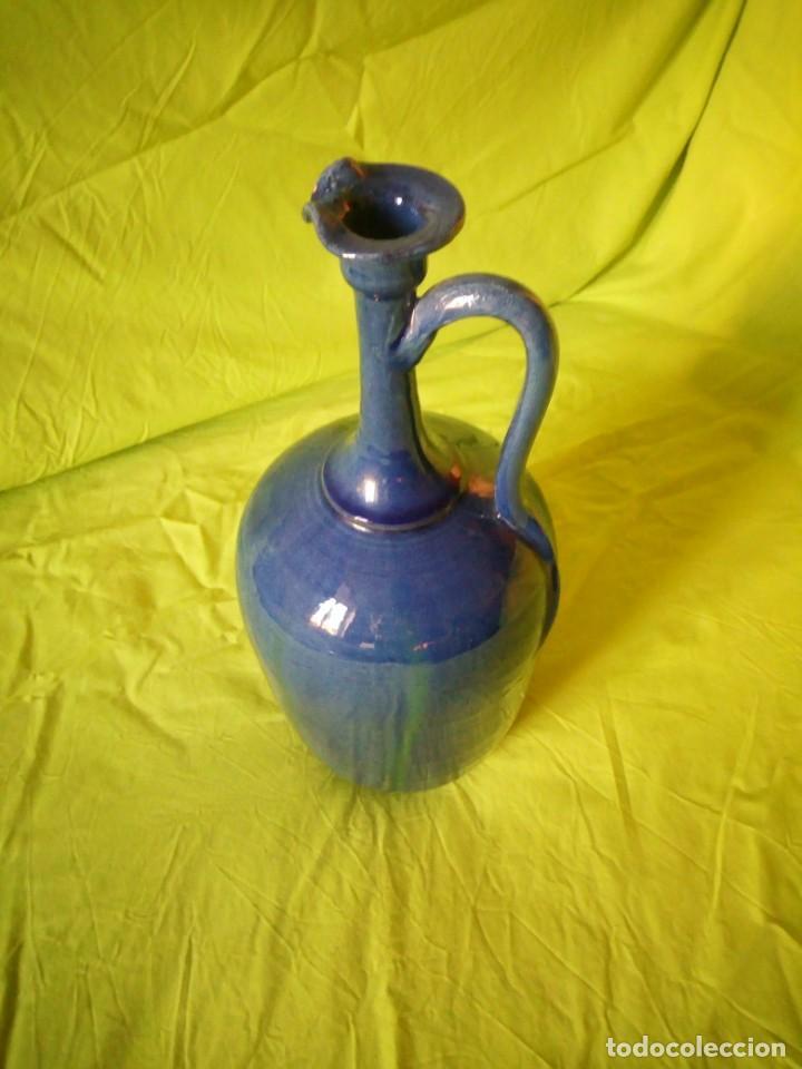 Antigüedades: jarron de alfar Gongora - Ubeda.ceramica esmaltada - Foto 4 - 195145317