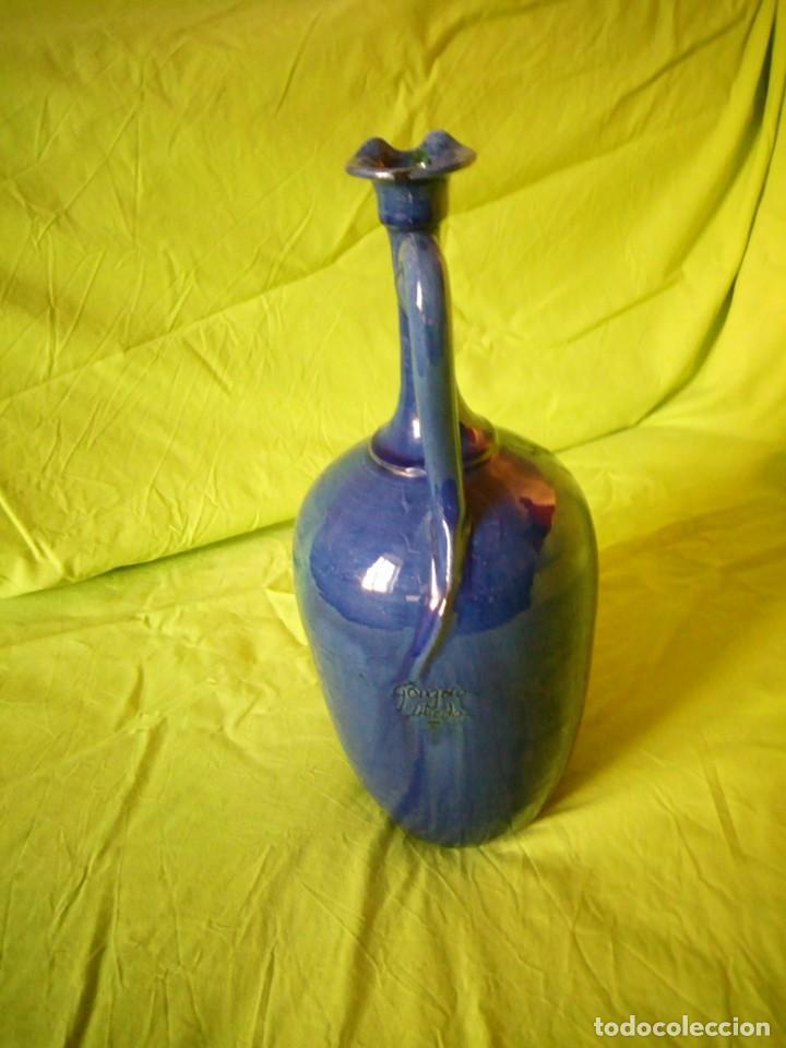 Antigüedades: jarron de alfar Gongora - Ubeda.ceramica esmaltada - Foto 5 - 195145317