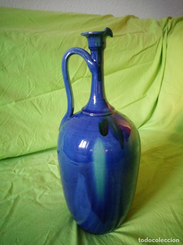 Antigüedades: jarron de alfar Gongora - Ubeda.ceramica esmaltada - Foto 7 - 195145317