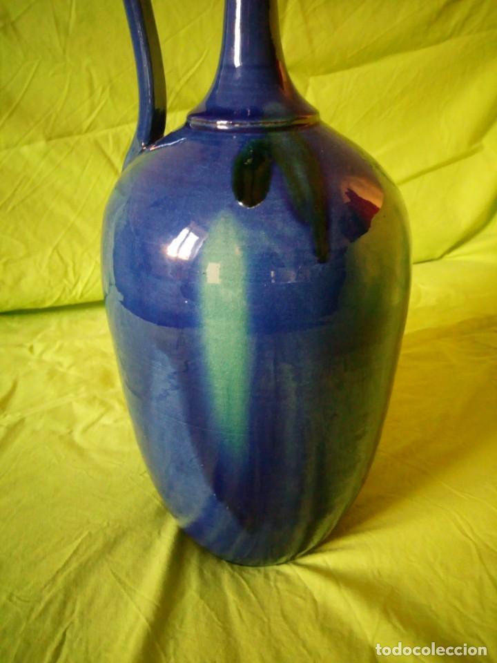 Antigüedades: jarron de alfar Gongora - Ubeda.ceramica esmaltada - Foto 8 - 195145317