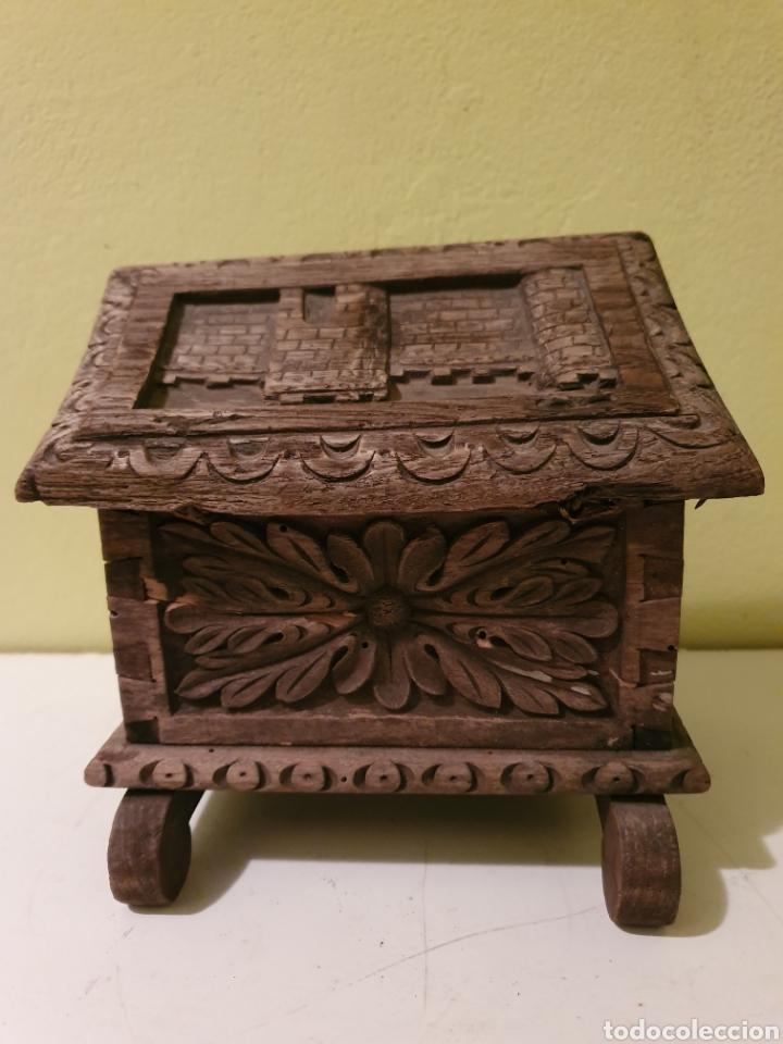 Antigüedades: ARCA COFRE JOYERO PARA RESTAURAR S.XVII - Foto 4 - 195146553