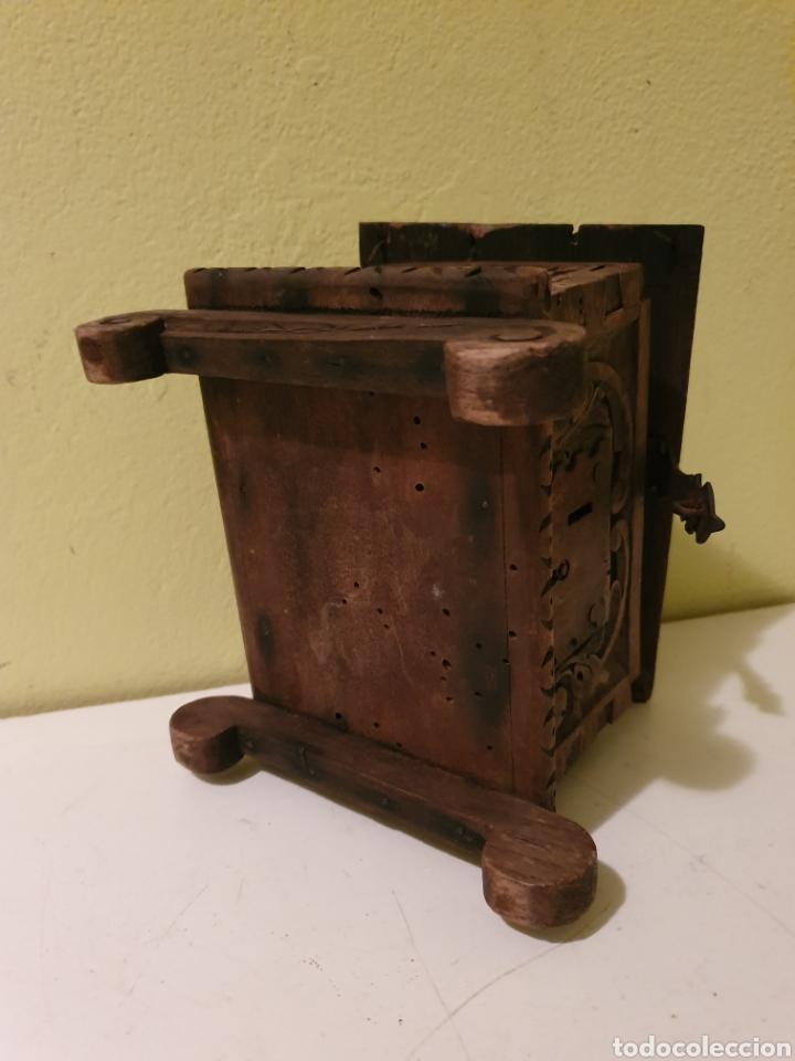Antigüedades: ARCA COFRE JOYERO PARA RESTAURAR S.XVII - Foto 7 - 195146553